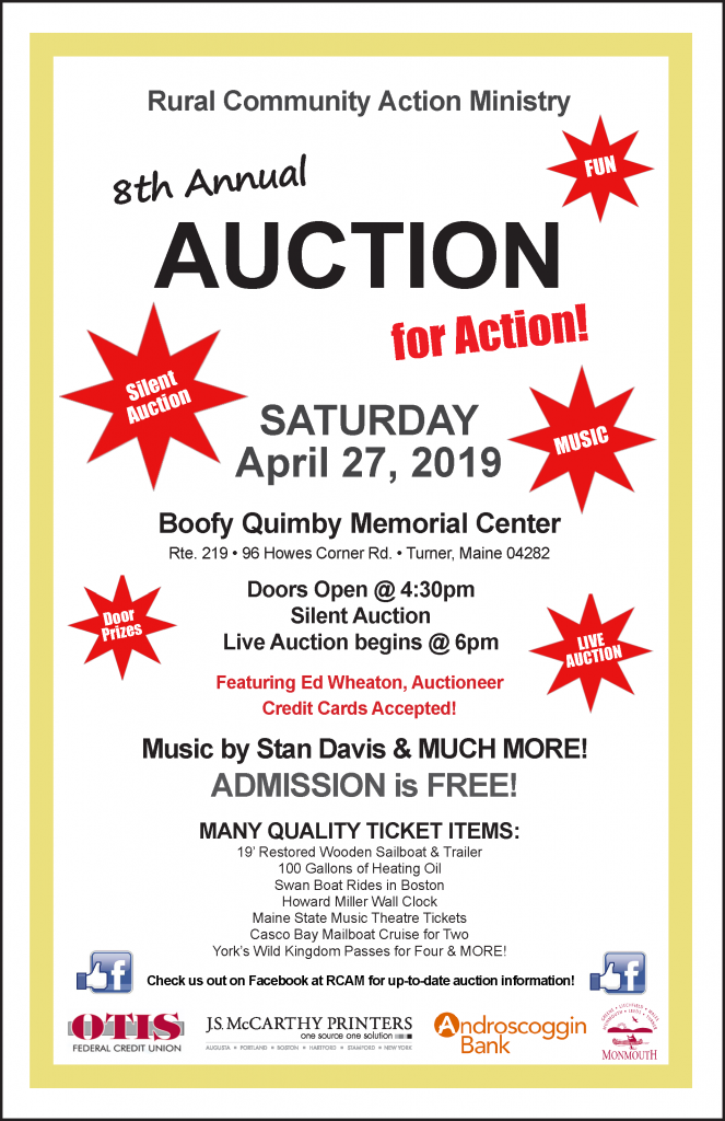 RCAM's Auction for Action 2019